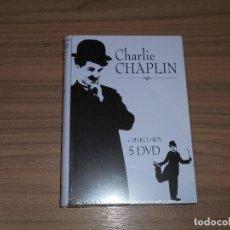 Cine: CHARLIE CHAPLIN COLECCION 22 ANVENTURAS EDICION ESPECIAL COFRE METALICO 5 DVD NUEVA PRECINTADA. Lote 183900850