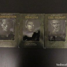 Cine: MONSTER LEGACY COLLECTION - DRACULA - FRANKENSTEIN - THE MUMMY - DVDS. Lote 104331715