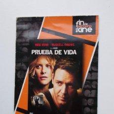 Cine: DVD - PRUEBA DE VIDA. Lote 104338502