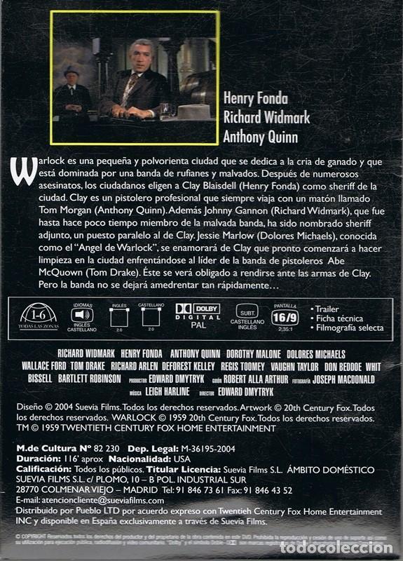 Cine: DVD EL HOMBRE DE LAS PISTOLAS DE ORO HENRY FONDA - Foto 2 - 104584323