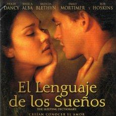Cine: DVD EL LENGUAJE DE LOS SUEÑOS HUGH DANCY . Lote 104588323
