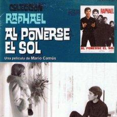 Cine: DVD AL PONERSE EL SOL RAPHAEL . Lote 104688059