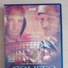 Cine: DVD COLISEO RUEDO MORTAL DE ROMA HISTORIA DE GLADIADORES BBC PELICULA Y DOCUMENTAL LEON DEL COLISEO. Lote 105011399