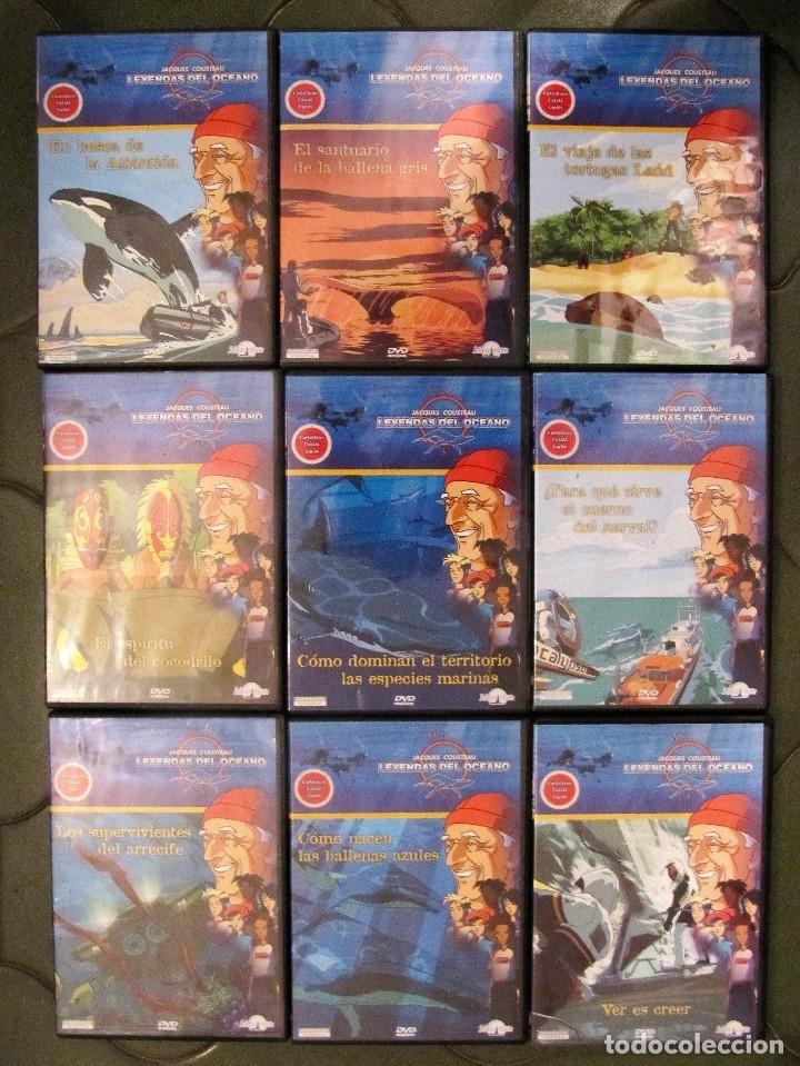 9 PELICULAS DVD JACQUES COUSTEAU LEYENDAS DEL OCEANO SELECTA VISION (Cine - Películas - DVD)