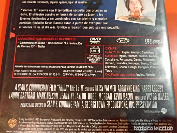 Dvd Viernes 13 1 Edicion Warner Con El Docu Comprar Películas
