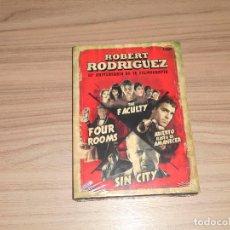 Cine: COLECCION ROBERT RODRIGUEZ 20 ANIV. 4 DVD FOUR ROOMS - SIN CITY - THE FACULTY... NUEVA PRECINTADA. Lote 183991567