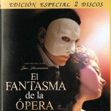 Cine: DVD EL FANTASMA DE LA ÓPERA ( EDICIÓN ESPECIAL 2 DISCOS). Lote 105747155