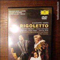 Cine: VERDI RIGOLETTO DVD . Lote 105861679