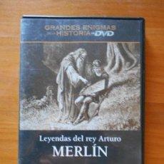 Cine: DVD LEYENDAS DEL REY ARTURO - MERLIN - GRANDES ENIGMAS DE LA HISTORIA (5V). Lote 105876255