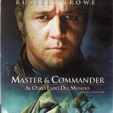 Cine: DVD MASTER & COMMANDER RUSSELL CROWE . Lote 106618107