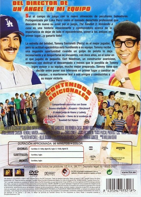 DVD THE SANDLOT 3 VOLVIENDO A CASA