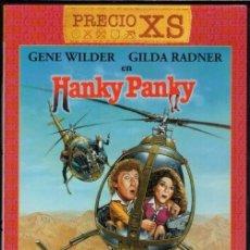 Cine: HANKY PANKY DVD (GENE WILDER ) - COMEDIA ALOCADA Y GENIAL.. CON ESCENAS FRENÉTICAS.(DESCATALOGADA). Lote 106987095