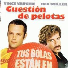 Cine: DVD CUESTIÓN DE PELOTAS VINCE VAUGHN . Lote 107016835