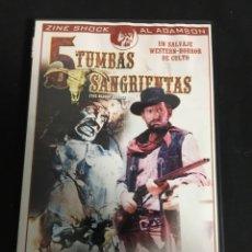 Cine: 5 TUMBAS SANGRIENTAS ( DVD SEGUNDA MANO ). Lote 107024268