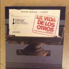 Cine: LA VIDA DE LOS OTROS (FLORIAN HENCKEL VON DONNERSMARCK) EDICION ESPECIAL (DOS DVDS). Lote 107044235