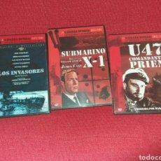Cine: TRES DVD LA II GUERRA MUNDIAL EN EL CINE. Lote 107049043