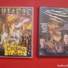 Cine: LOTE 2 DVD: CIUDAD EN LLAMAS - EL COLOSO EN LLAMAS. ORIGINALES. NUEVAS. Lote 107206743