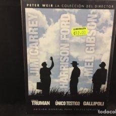 Cine: PETER WEIR COLECCIÓN / 3 DVD BOX - SHOW TRUMAN ÚNICO TESTIGO GALLIPOLI. Lote 107604855