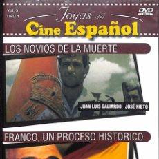 Cine: DVD LOS NOVIOS DE LA MUERTE + FRANCO, UN PROCESO HISTÓRICO. Lote 107611687