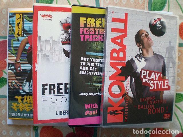 LOTE 4 DVD FOOTBALL FÚTBOL FREESTYLE KOMBALL: ABBAS FARID, BILLY WINGROVE, PAUL WOODY WOOD, ETC (Cine - Películas - DVD)