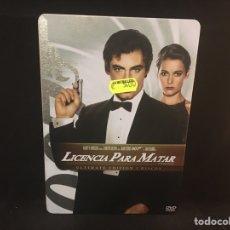 Cinema: JAMES BOND / 007 LICENCIA PARA MATAR - 2 DVD CAJA METÁLICA. Lote 133620193