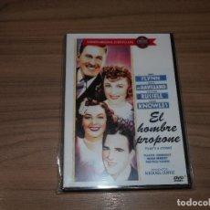 Cine: EL HOMBRE PROPONE DVD ERROL FLYNN OLIVIA DE HAVILLAND ROSALIND RUSSELL NUEVA PRECINTADA. Lote 143152134