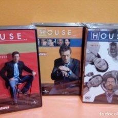 Cine: DVD HOUSE TEMPORADA 1, 2 Y 3 COMPLETAS. NUEVO CON PRECINTO. Lote 108917691