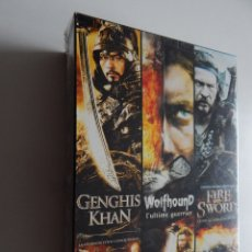 Cine: PACK 3 DVD: GENGHIS KHAN. WOLFHOUND, L´ULTIME GUERRIER. FIRE AND SWORD - NEUF. Lote 96442047