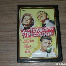 Cine: ACTORES Y PECADOS DVD EDWARD G. ROBINSON NUEVA PRECINTADA. Lote 187637915