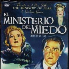 Cine: EL MINISTERIO DEL MIEDO DVD (FRITZ LANG) - ¿POR QUE LE LLAMABAN LOCO? ¿POR QUÉ LE PERSEGUIA LA S.S.?. Lote 109352543