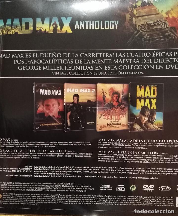 Cine: MAD MAX ANTHOLOGY. PACK 4 PELÍCULAS MAD MAX EN DVD. ED. LIMITADA VINTAGE. NUEVO. - Foto 4 - 178901330