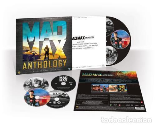 Cine: MAD MAX ANTHOLOGY. PACK 4 PELÍCULAS MAD MAX EN DVD. ED. LIMITADA VINTAGE. NUEVO. - Foto 3 - 178901330