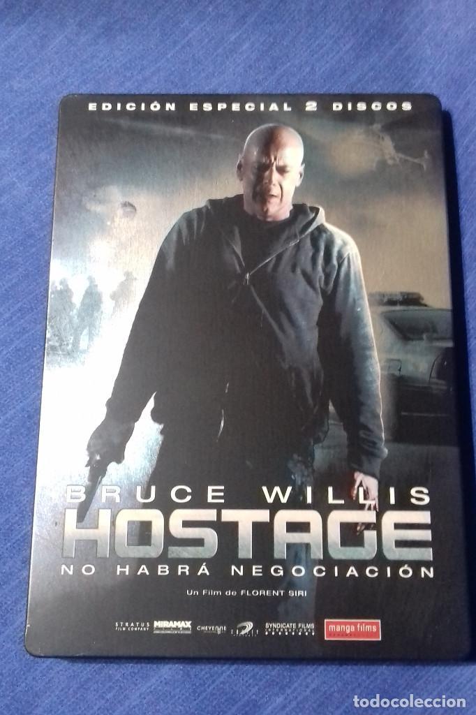 DVD HOSTAGE NO HABRA NEGOCIACION - BRUCE WILLIS. EDICION ESPECIAL 2 DISCOS. CAJA DE METAL. (Cine - Películas - DVD)