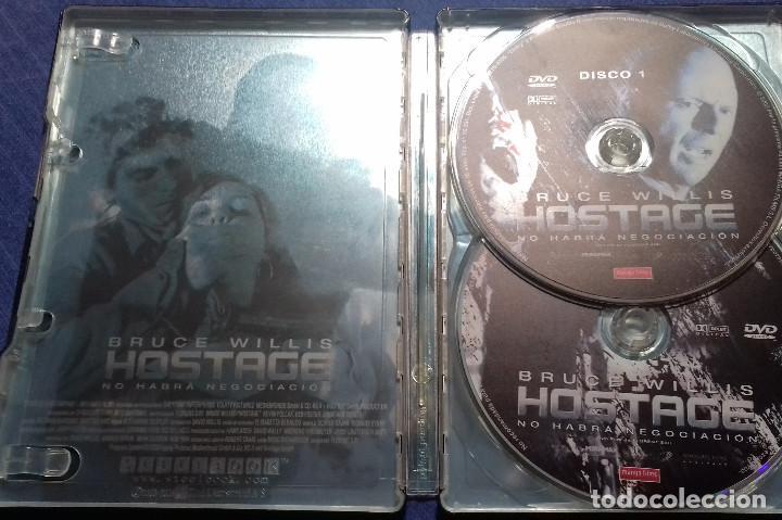 Cine: DVD HOSTAGE NO HABRA NEGOCIACION - BRUCE WILLIS. EDICION ESPECIAL 2 DISCOS. CAJA DE METAL. - Foto 2 - 109995759