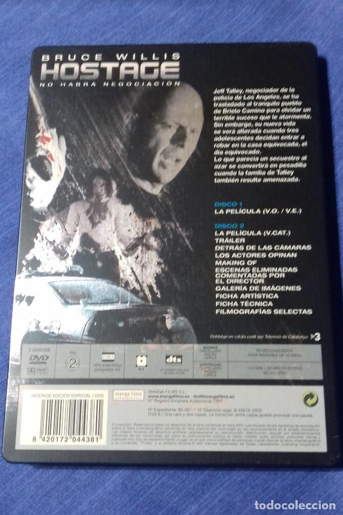 Cine: DVD HOSTAGE NO HABRA NEGOCIACION - BRUCE WILLIS. EDICION ESPECIAL 2 DISCOS. CAJA DE METAL. - Foto 3 - 109995759
