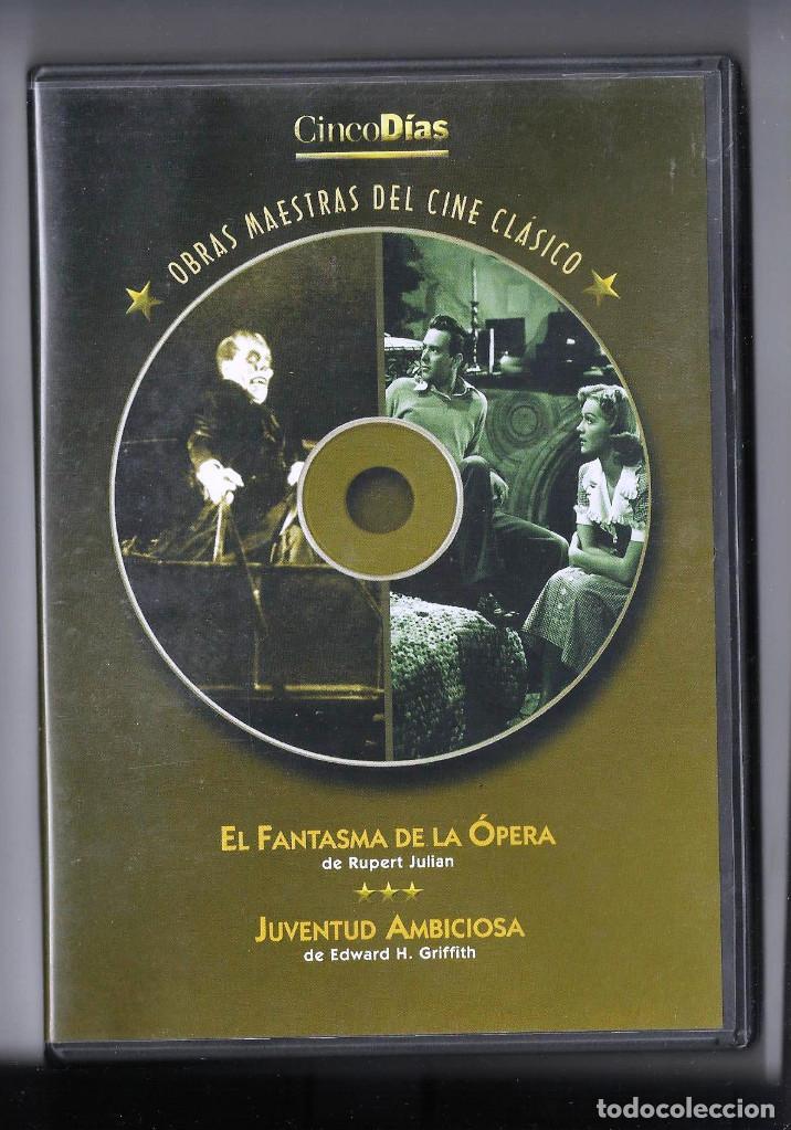 EL FANTASMA DE LA ÓPERA, DE RUPERT JULIAN + JUVENTUD AMBICIOSA, DE EDWARD H. GRIFFITH EN UN SOLO DVD (Cine - Películas - DVD)
