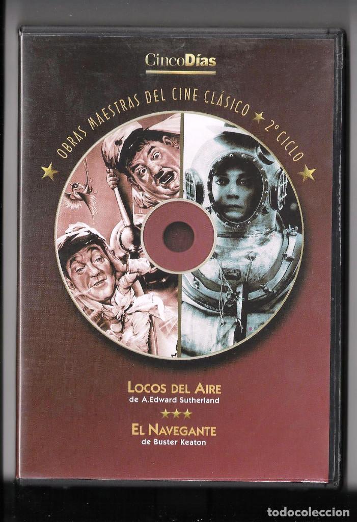 EL NAVEGANTE, DE BUSTER KEATON + LOCOS DEL AIRE, DE SUTHERLAND EN UN SOLO DVD (Cine - Películas - DVD)