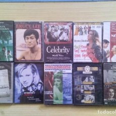 Cine: LOTE 10 PELICULAS DVD - MATRIX - CELEBRITY - SCOOP - BRUCE LEE - INVISIBLES..ETC. Lote 110595847