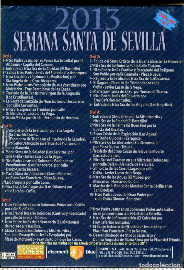 Cine: MAGNIFICO PACK DE 6 DVD SEMANA SANTA DE SEVILLA 2013 PRECINTADO - Foto 3 - 110775307