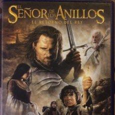 Cine: EL SEÑOR DE LOS ANILLOS. EL RETORNO DEL REY. DISCO 1(PELÍCULA) DISCO 2(CONTENIDOS EXTRA). Lote 110930707