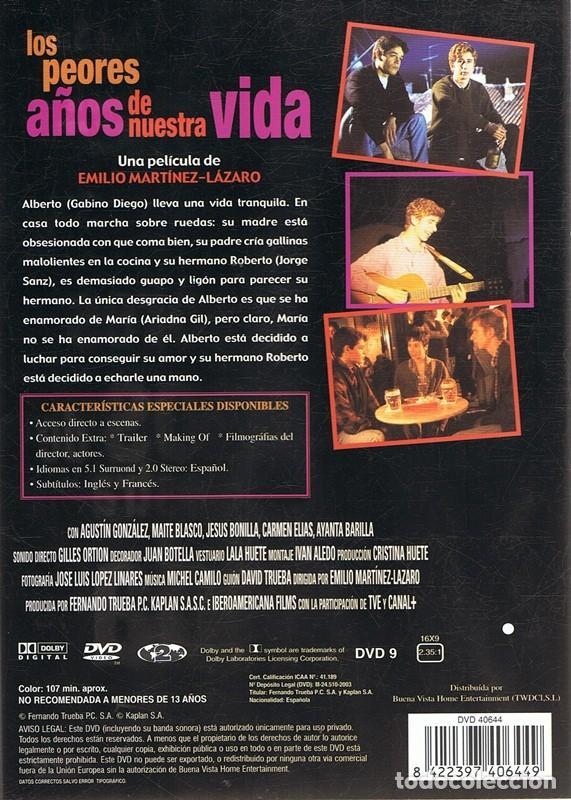 Cine: DVD LOS PEORES AÑOS DE NUESTRA VIDA JORGE SANZ - Foto 2 - 111013403