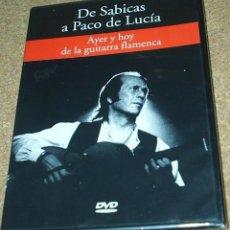 Cine: PACO DE LUCIA, AYER Y HOY DE LA GUITARRA FLAMENCA - PRECINTADO SIN USO. Lote 111343427