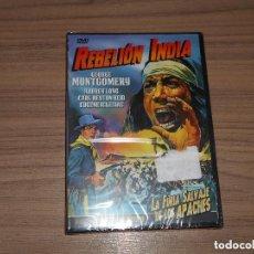 Cine: REBELION INDIA DVD GEORGE MONTGOMERY NUEVA PRECINTADA. Lote 243772365