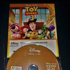 Cine: TOY STORY 3 COPIA DIGITAL EN DISCO + FOLLETO (CADUCADA 2012) DVD-ROM. Lote 148242753