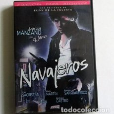 Cine: NAVAJEROS - DVD PELÍCULA SUSPENSE - MANZANO ELOY DE LA IGLESIA - SAN FRANCISCO - EL JARO PANDILLEROS. Lote 111708687