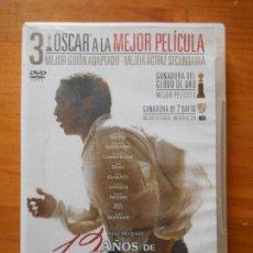 Cine: DVD 12 AÑOS DE ESCLAVITUD - STEVE MCQUEEN (9D). Lote 111775815