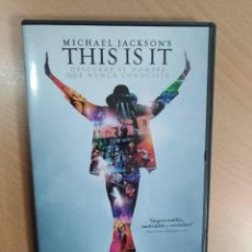 Cine: MICHAEL JACKSON .THIS IS IT. DVD. PELICULA.. Lote 111808151