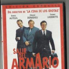 Cine: SALIR DEL ARMARIO. DVD. DE FRANCIS VEBER, CON DANIEL AUTEUIL, GÉRARD DEPARDIEU Y THIERRY LHERMITTE.. Lote 112049715