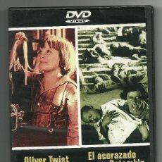 Cine: 2 PELÍCULAS EN : OLIVER TWIST - EL ACORAZADO POTEMKIN DVD 2X1 - COMO NUEVO. Lote 112211699
