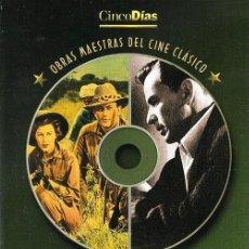 Cine: OBRAS MAESTRAS DEL CINE CLÁSICO: LAS NIEVES DEL KILIMANJARO - EL HOMBRE DEL BRAZO DE ORO (CINCODÍAS). Lote 112211707